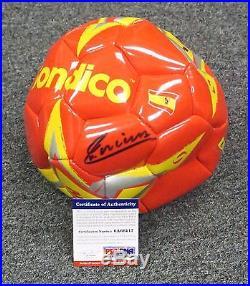 32316 Andres Iniesta Signed Full Size SPAIN Soccer Ball AUTO PSA/DNA COA