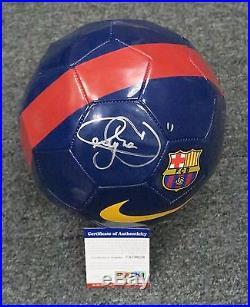 32317 Neymar Signed Full Size NIKE Barcelona Soccer Ball Autograph PSA/DNA COA