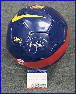 32319 Neymar Signed Full Size NIKE Barcelona Soccer Ball Autograph PSA/DNA COA