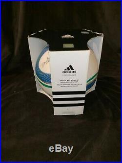 ADIDAS JABULANI WORLD CUP 2010 BOX OFFICIAL MATCH BALL RARE MLS Signed edition