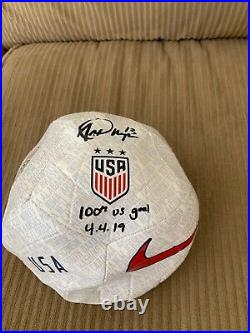 ALEX MORGAN Signed 100th goal Inscribed USA Women's World Cup Nike Ball Fanatics