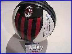 Andrea Pirlo Signed Ac Milan Soccer Ball Psa/dna Coa Ac52422 Juventus Italy