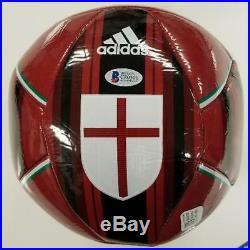 ANDREA PIRLO Signed AC Milan Soccer Ball Size 5 Autograph Italy Beckett BAS COA