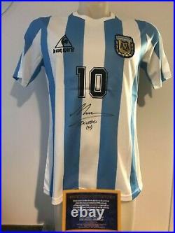 ARGENTINA DIEGO ARMANDO MARADONA Autografata MARADONA Signed Autograph