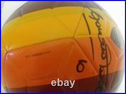 AS Roma pallone soccer ball maglia shirt Francesco Totti Autografato signed Nike