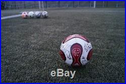 AdidasTeamgeist RED Official match ball 2006 Autographed by Bayer 04 Brand New