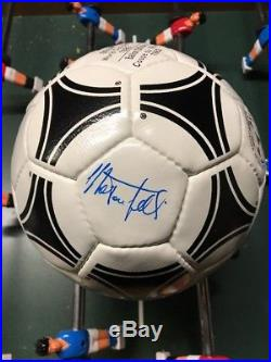 Adidas Tango Espana World Cup 1982 Matchball Signed By Marco Tardelli Italy New