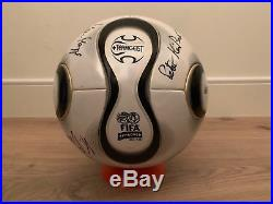 Adidas Teamgeist Official Matchball World Cup 2006 OMB Autographed Footgolf