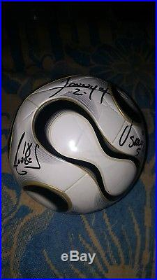 Adidas White Teamgeist Official Match Ball Autographed