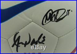 Alex Morgan/Megan Rapinoe USA Team Soccer USNWT Signed Soccer Ball JSA 145835