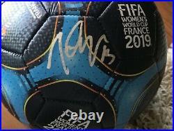 Alex Morgan Signed 2019 World Cup Soccer Ball Team USA Champs
