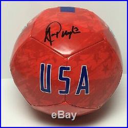 Alex Morgan Signed Nike Soccer Ball Team USA Orlando Pride PSA AF81246