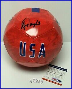 Alex Morgan Signed Nike Soccer Ball Team USA Orlando Pride PSA AF81247