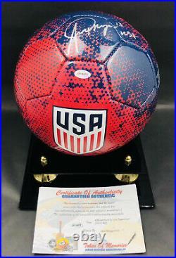 Alex Morgan Signed Team USA Women's World Cup Autographed Auto Soccer Ball COA