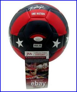 Alex Morgan Signed USA Women's World Cup Red/Blue Nike Soccer Ball JSA 145709