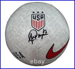 Alex Morgan Signed USA Women's World Cup White Nike Soccer Ball JSA 145553
