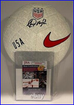 Alex Morgan Signed USA Women's World Cup White Nike Soccer Ball JSA COA