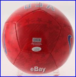 Alex Morgan Signed Women's Team USA Nike RED Size 5 Soccer Ball JSA Witness COA