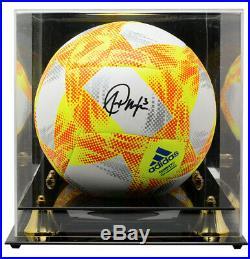 Alex Morgan Team USA Signed USA Orange Match Replica Soccer Ball JSA with Case
