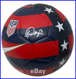 Alex Morgan Team USA Signed USA Red Blue Nike Soccer Ball JSA