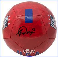 Alex Morgan Team USA Signed USA Red Nike Soccer Ball JSA