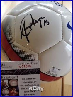 Alex Morgan signed USWNT Nike USA Soccer Ball Pride JSA V31216