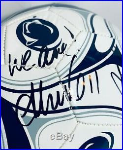 Ali Krieger & Alyssa Naeher Signed Autograph Penn State Soccer Ball Coa USA