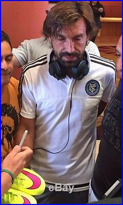 Andrea Pirlo Autographed Adidas Juventus Ball Italian AC Milan NYCFC PROOF BAS