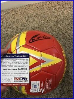 Andres Iniesta Signed Auto Spain Soccer Ball PSA COA FC Barcelona