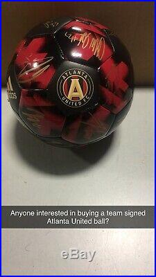 Atltanta United FC Team Signed Soccer Ball