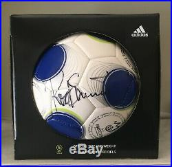 Autographed Adidas Soccer Ball Signed by Rod Stewart