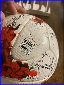 Autographed Adidas ball Confederations Cup OMB Krasava, Mexican National team