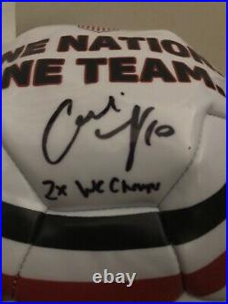 Autographed/Signed CARLI LLOYD 2x WC Champs White Team USA Soccer Ball JSA COA