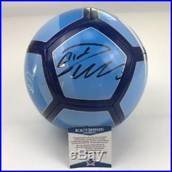Autographed/Signed CRISTIANO RONALDO Blue Soccer Ball Beckett BAS COA