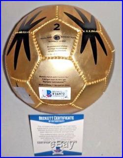 BASTIAN SCHWEINSTEIGER signed auto 2014 WORLD CUP MINI SOCCER BALL BECKETT COA