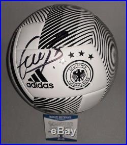 BAYERN MUNICH BASTIAN SCHWEINSTEIGER signed GERMANY SOCCER BALL BECKETT COA BAS