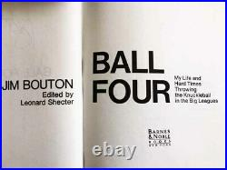 Ball Four signed by Jim BoutonMint 1993 1st Priinting Hardback/Dust Jacket