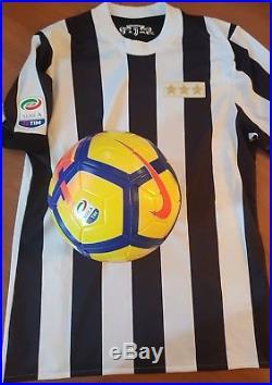 Ball Match Worn Juventus Signed Dybala Higuain Buffon Mandzukic Pjanic. 2017 18