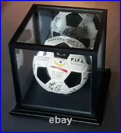 Barcelona 1992 Olympic Team USA Signed Autographed Soccer Ball with Display Case