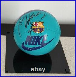 Barcelona FC Ball hand signed autographed by RAFAEL MARQUEZ PROOF Mexico Legend