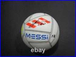Barcelona Lionel Messi Hand Signed LOGO Soccer COA