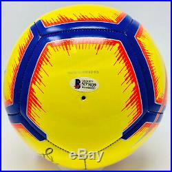 Barcelona Lionel Messi Signed Nike Soccer Ball La Liga Beckett BAS COA