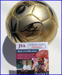 Bastian Schweinsteiger Signed 2014 Mini World Cup Soccer Ball withJSA COA DD22621