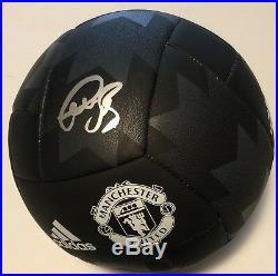 Bastian Schweinsteiger Signed Manchester United Soccer Ball Adidas Germany+coa
