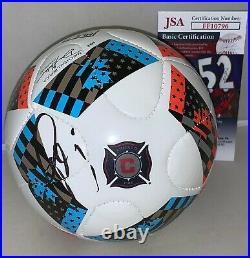 Bastian Schweinsteiger signed Chicago Fire mini Logo Soccer Ball autographed JSA