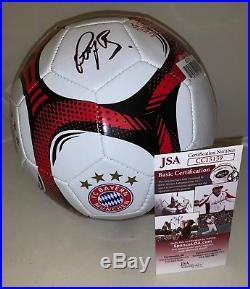 Bastian Schweinsteiger signed White FC Bayern Munich Soccer Ball Germany JSA