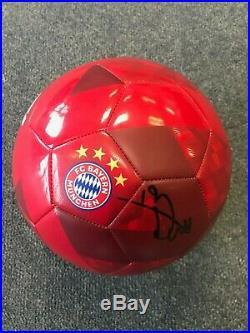 Bayern Munich Alphonso Davies Autographed Signed Size 5 Soccer Ball COA #3