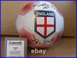 Beckham & Rooney Dual Signed England Football COA