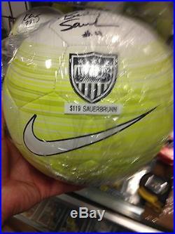 Becky Sauerbrunn USA signed Soccerball