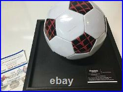 Brazil Pele Authentic Autographed Signed Mini Soccer Ball With COA Blue Ink Sign